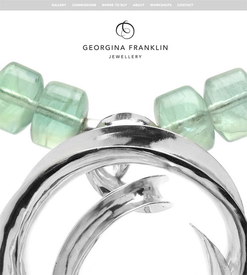 Georgina Franklin Jewellery website