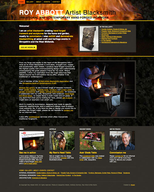 Roy Abbott Artist Blacksmith website
