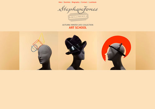 Stephen Jones Millinery website