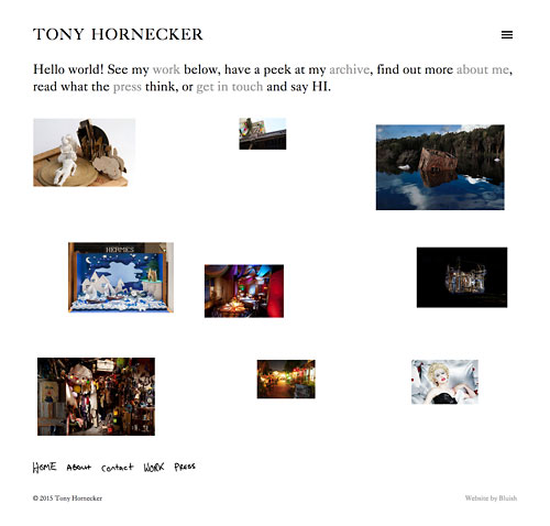 Tony Hornecker website